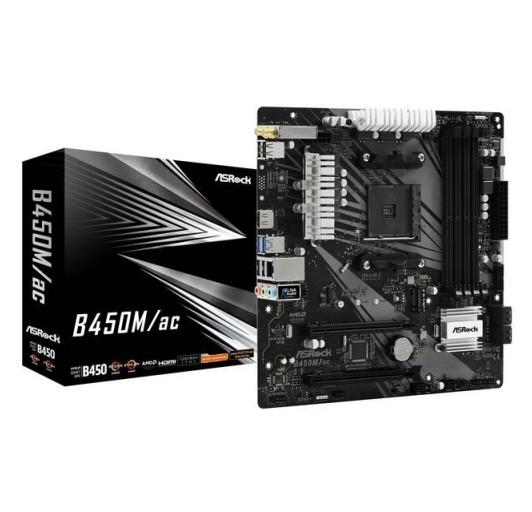 ASROCK B450M AC Quad CrossFireX SATA3 & USB3.2 M.2 A&GbE MATX