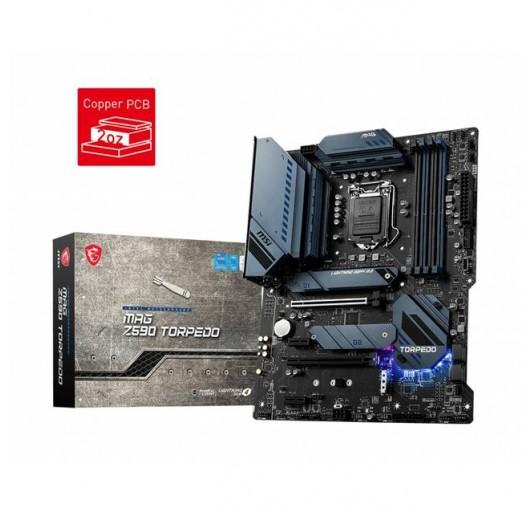 MSI MAG Z590 TORPEDO LGA1200/ Intel Z590/ DDR4/ 2xCrssF/ SATA3&USB3.2/ M.2 ATX