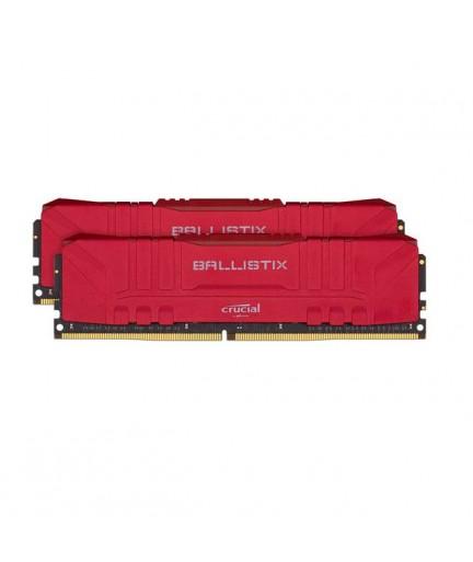 Crucial Ballistix DDR4-3200 32GB(2x 16GB)/2G x 64 CL16 Desktop Gaming Memory Kit (Red)