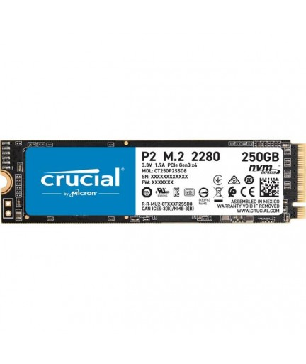Crucial P2 250GB M.2 2280 PCI-Express 3.0 NVMe SSD (Micron 3D NAND)