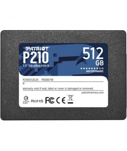"Patriot 512GB P210 Sata III 2.5"" SSD"